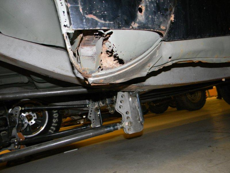 1949 Chevrolet Gasser Left Rear Rocker Panel Repair
