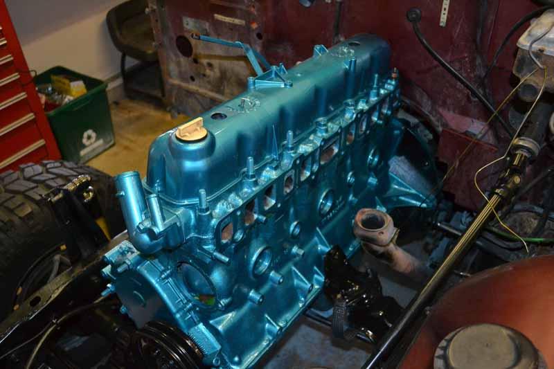 Caravelle Blue Engine Paint